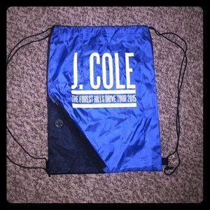 🌎😈J. Cole drawstring bag w/ zipper
